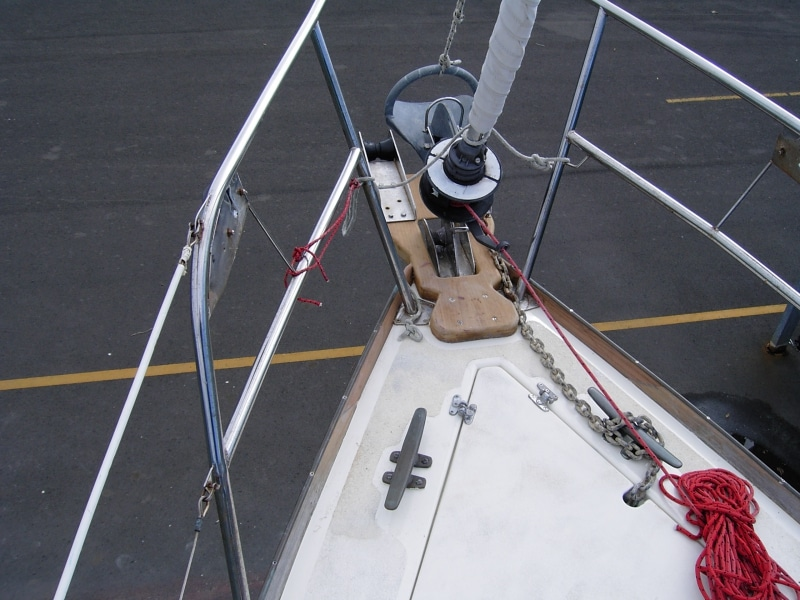 Damage repaired from other boat breaking free