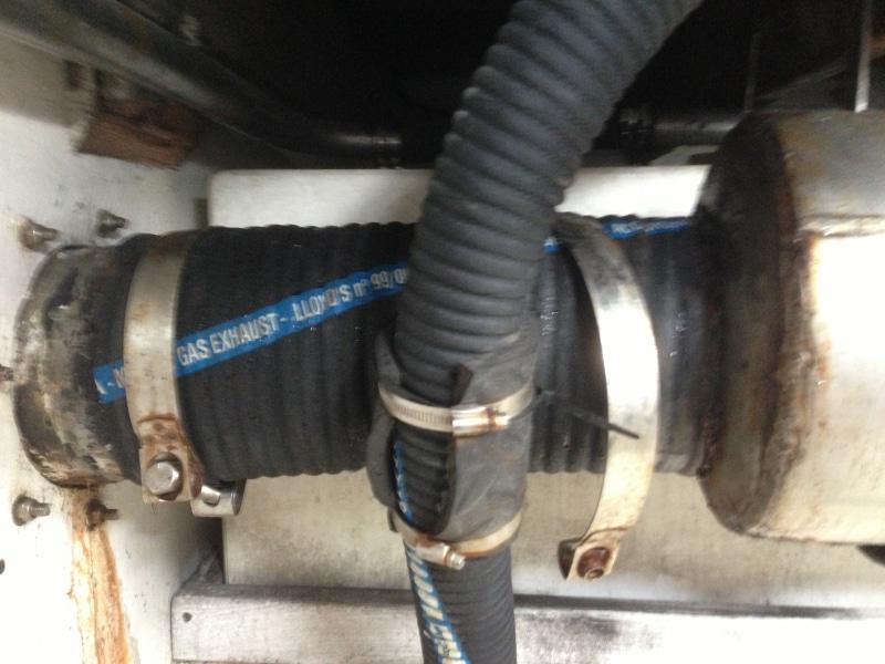 Defective exhaust system