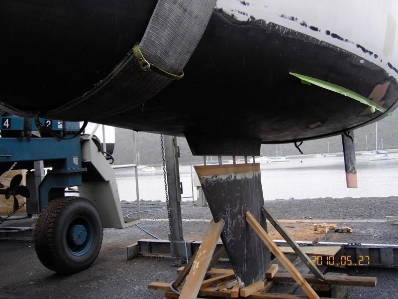 Farrstrak keel repair from mooring failure