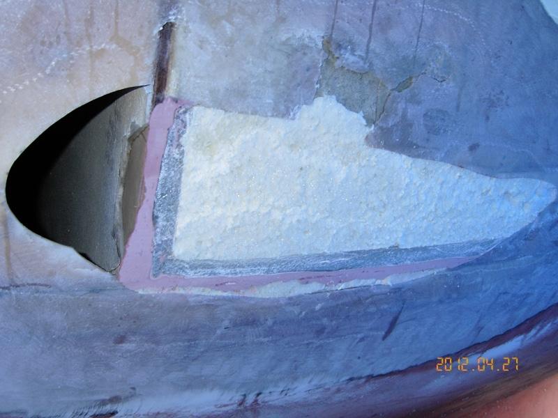 Fibreglass hull repair process