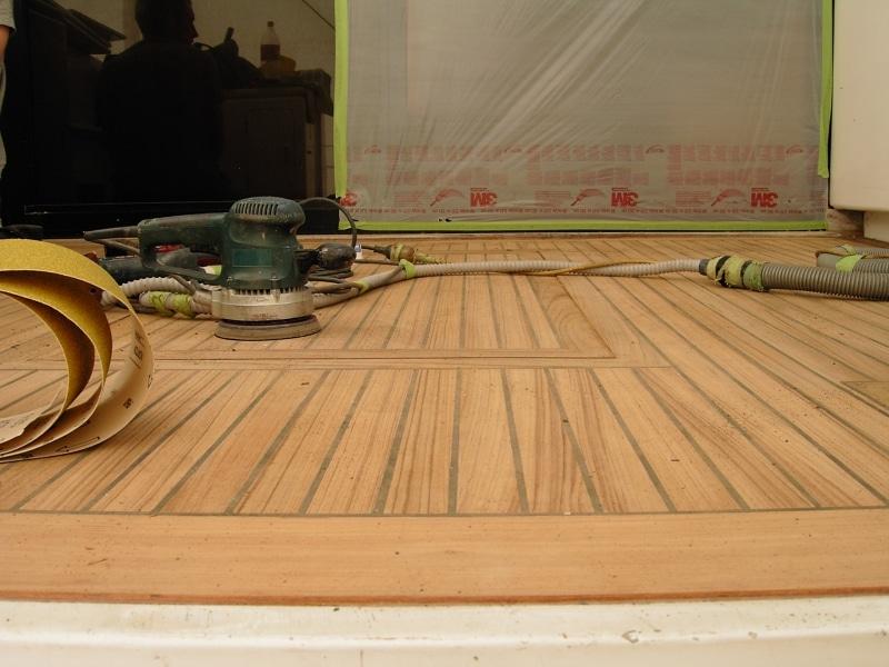 Goldair - new deck sanded