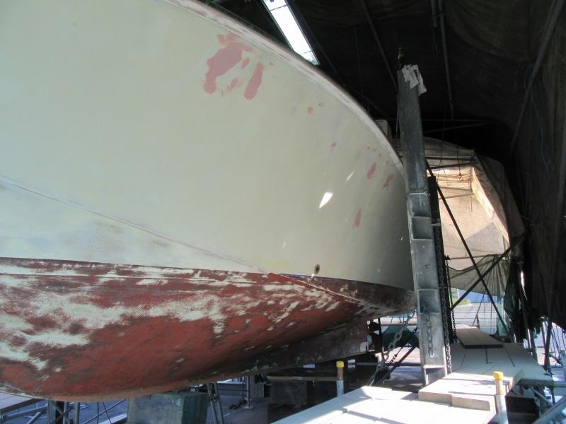 Scorpion prepping hull & bottom