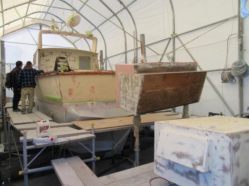 Scorpion boat & parts prepped