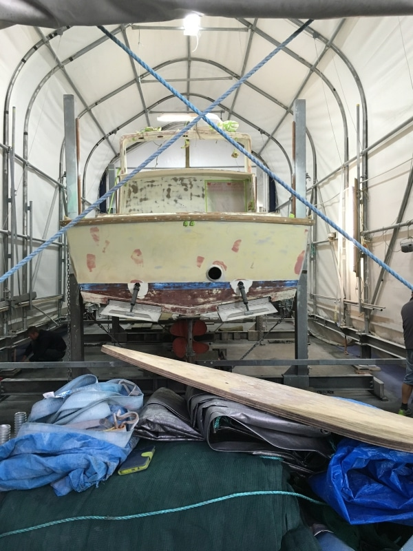 Scorpion prepping boat