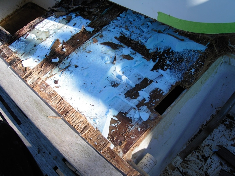Inappropriate materials caused rot