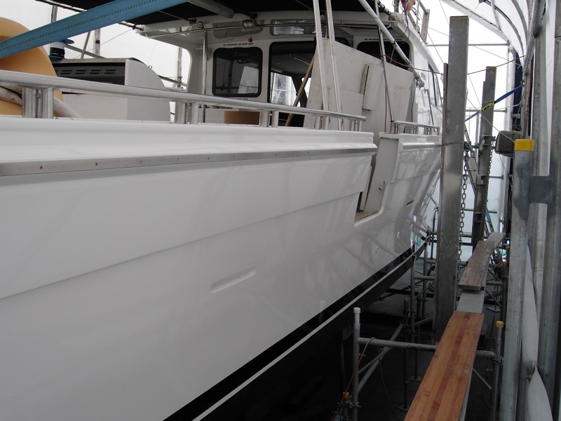 Joint Venture hull painted