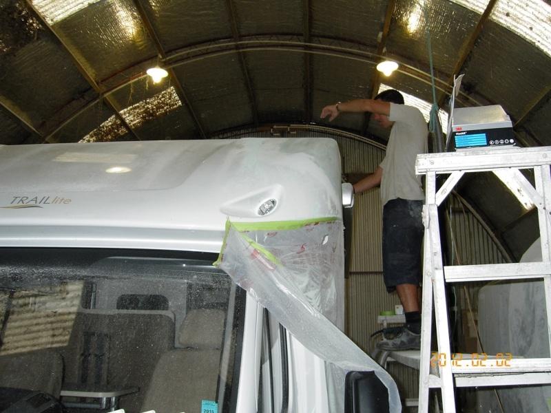 Karl repairing campervan