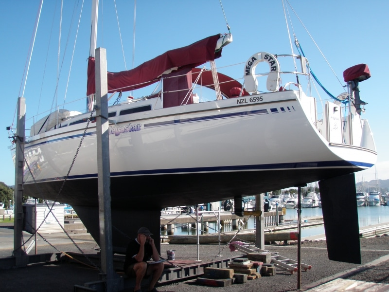 Megastar hull painted