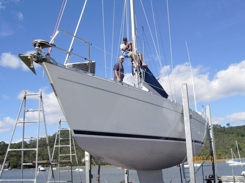 Providence - fitting steps to mast