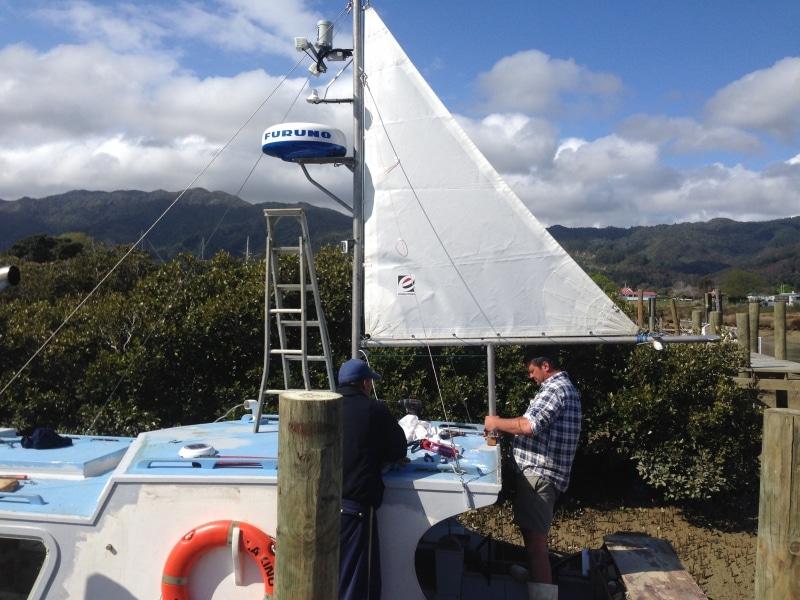 Rakino - new mast & sail