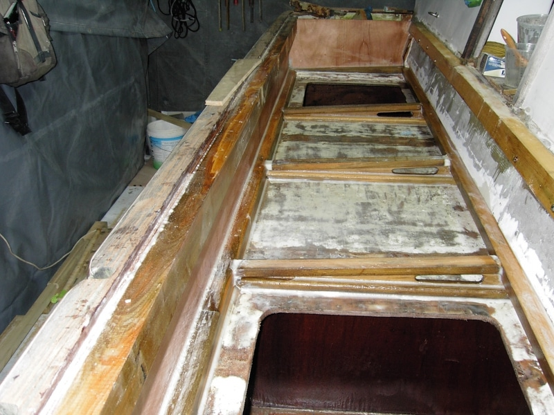 Rebuilding deck lockers