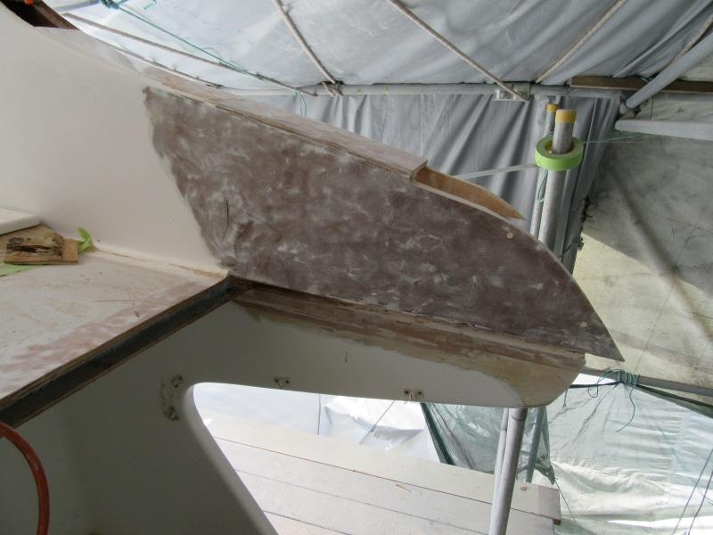 Rot repair flybridge corner