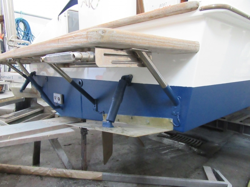 Rot repair starboard aft corner finished