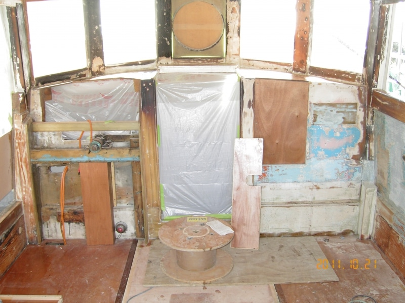 Sundancer wheelhouse interior stripped