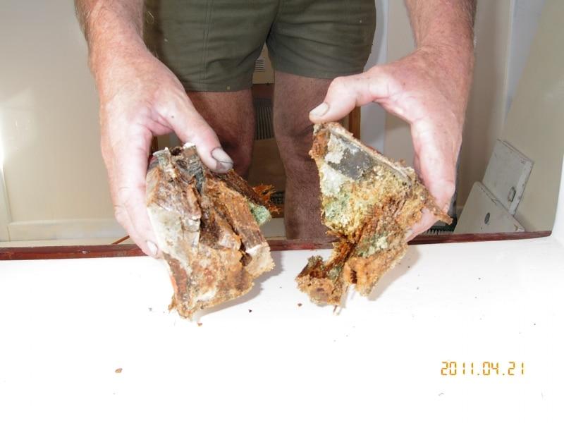 Timber breakdown electrochemical damage