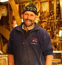 Mitch in the workshop
